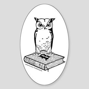 Bibliophile 2-Tone Logo Sticker (Oval)
