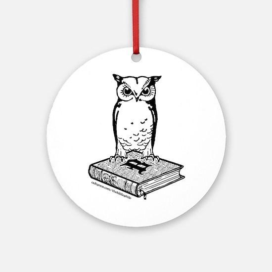 Bibliophile 2-Tone Logo Ornament (Round)