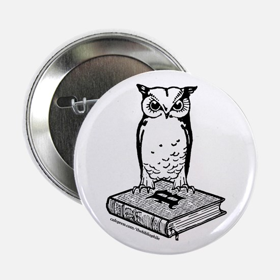 "Bibliophile 2-Tone Logo 2.25"" Button"
