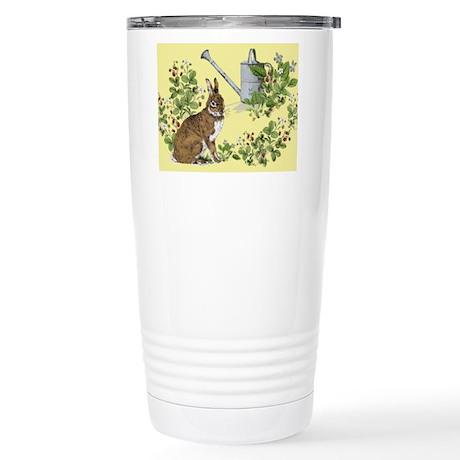 'Berry Bunny' Stainless Steel Travel Mug