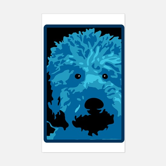 Labradoodle - color 3 Sticker (Rectangle)