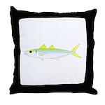 Green Jack Mackerel Throw Pillow