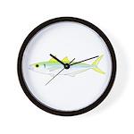 Green Jack Mackerel Wall Clock