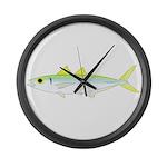 Green Jack Mackerel Large Wall Clock