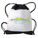 Green Jack Mackerel Drawstring Bag