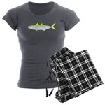 Green Jack Mackerel Women's Charcoal Pajamas