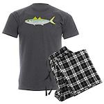 Green Jack Mackerel Men's Charcoal Pajamas