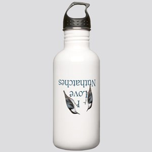 I Love Nuthatches Stainless Water Bottle 1.0L