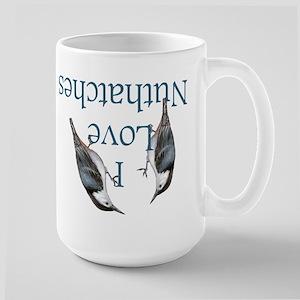 I Love Nuthatches Large Mug