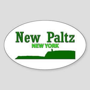 New Paltz Green Sticker (Oval)