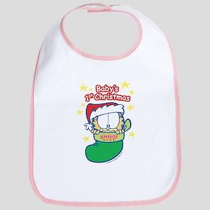 Garfield Baby 1st Christmas Bib