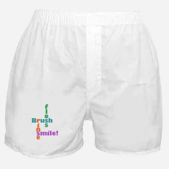 Brush Floss Rinse Smile Boxer Shorts