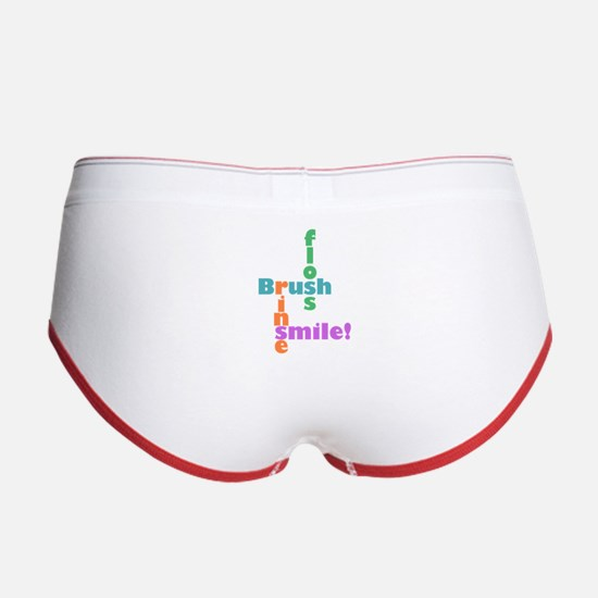 Brush Floss Rinse Smile Women's Boy Brief