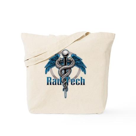 Rad Tech Caduceus Blue Tote Bag