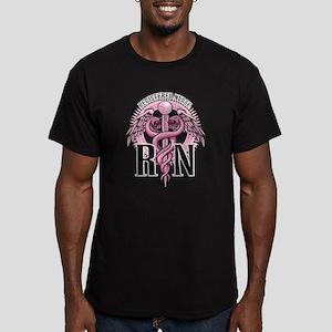 RN Caduceus Pink Men's Fitted T-Shirt (dark)
