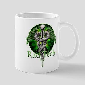Rad Tech Caduceus Green Mug