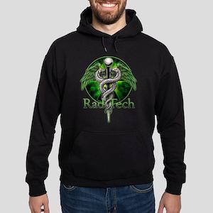 Rad Tech Caduceus Green Hoodie (dark)