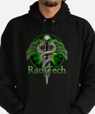 Rad Tech Caduceus Green Hoodie (dark)