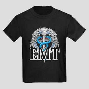 EMT Caduceus Blue Kids Dark T-Shirt