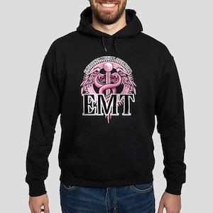 EMT Caduceus Pink Hoodie (dark)