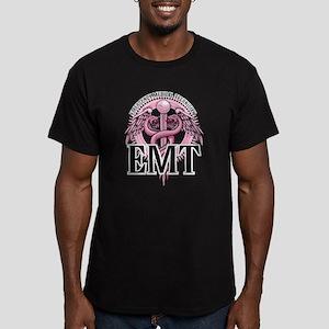 EMT Caduceus Pink Men's Fitted T-Shirt (dark)