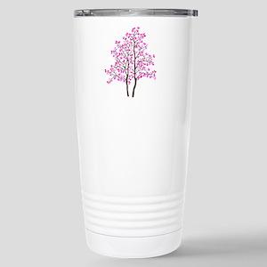 pink tree Stainless Steel Travel Mug