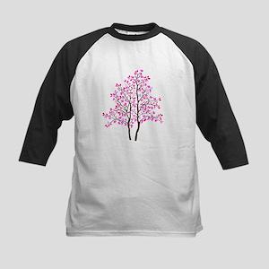 pink tree Kids Baseball Jersey