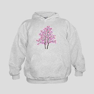 pink tree Kids Hoodie