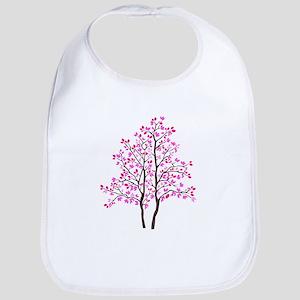 pink tree Bib