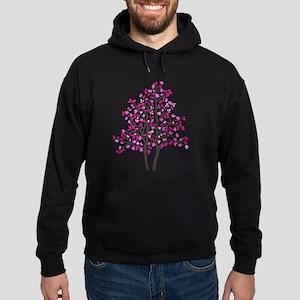 pink tree Hoodie (dark)