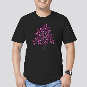 pink tree Men's Fitted T-Shirt (dark)