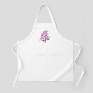 pink tree Apron