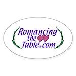 RomancingTheTable Sticker (Oval)