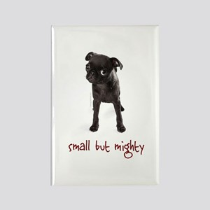 RD Pug Mighty Rectangle Magnet