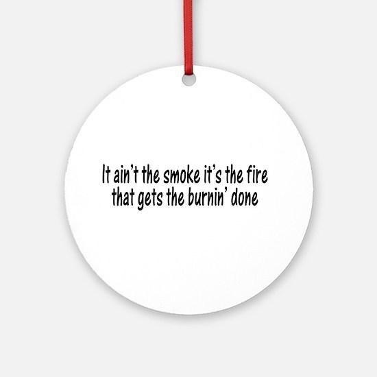 Smokin Fire Ornament (Round)
