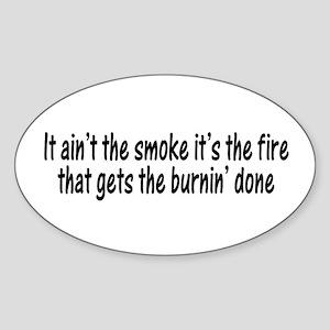 Smokin Fire Oval Sticker