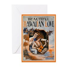Hawaiian Valentine Greeting Cards (Pk of 10)
