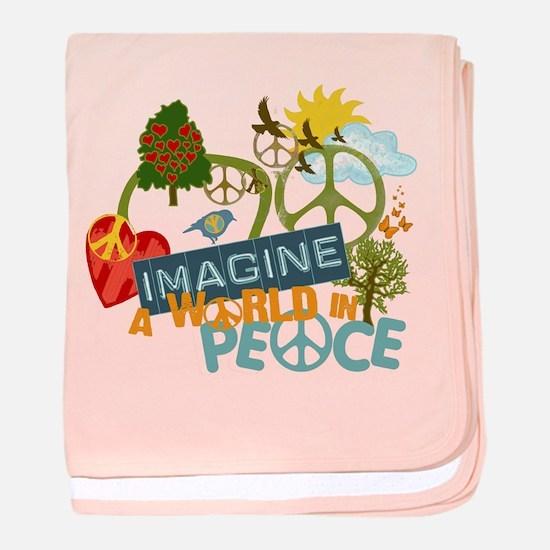 Rainbow Peace Abtract Art Infant Blanket