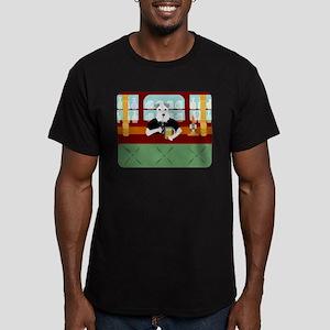 Schnauzer Beer Pub Men's Fitted T-Shirt (dark)
