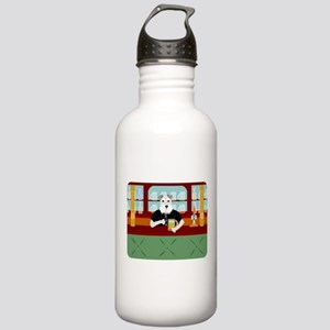 Schnauzer Beer Pub Stainless Water Bottle 1.0L