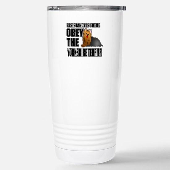 Yorkshire Terrier Stainless Steel Travel Mug