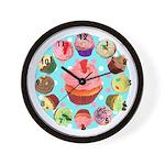 Polka Dot Cupcake Wall Clock