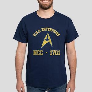 USS ENTERPRISE NCC-1701 Dark T-Shirt