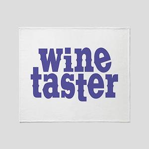 Wine Taster Throw Blanket