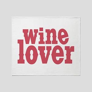 Wine Lover Throw Blanket