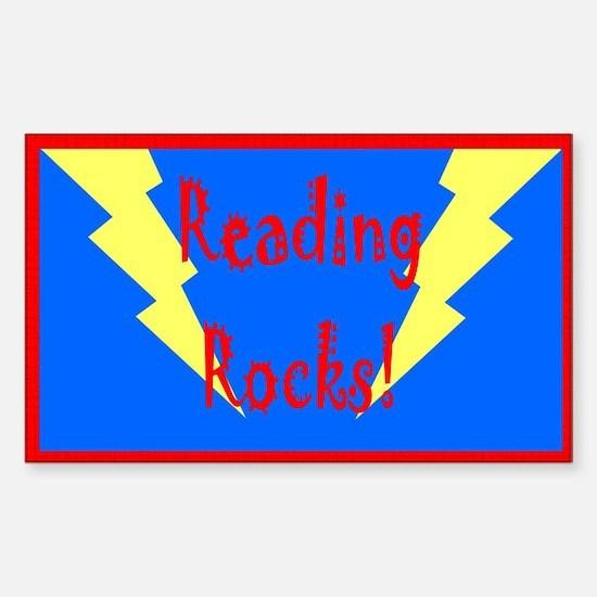 Reading Rocks! Bolt Rectangle Decal