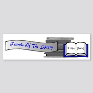 Friends of the Library Bumper Sticker