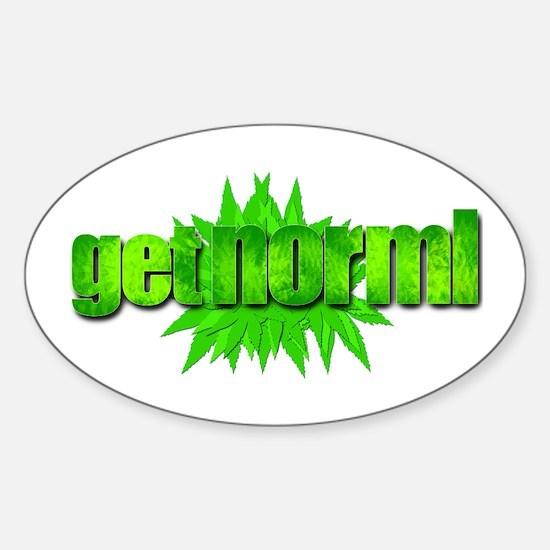 Get Norml Sticker (Oval)
