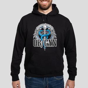 OB/GYN Caduceus Blue Hoodie (dark)
