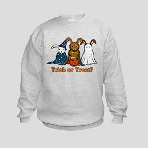 Halloween Rabbits Kids Sweatshirt